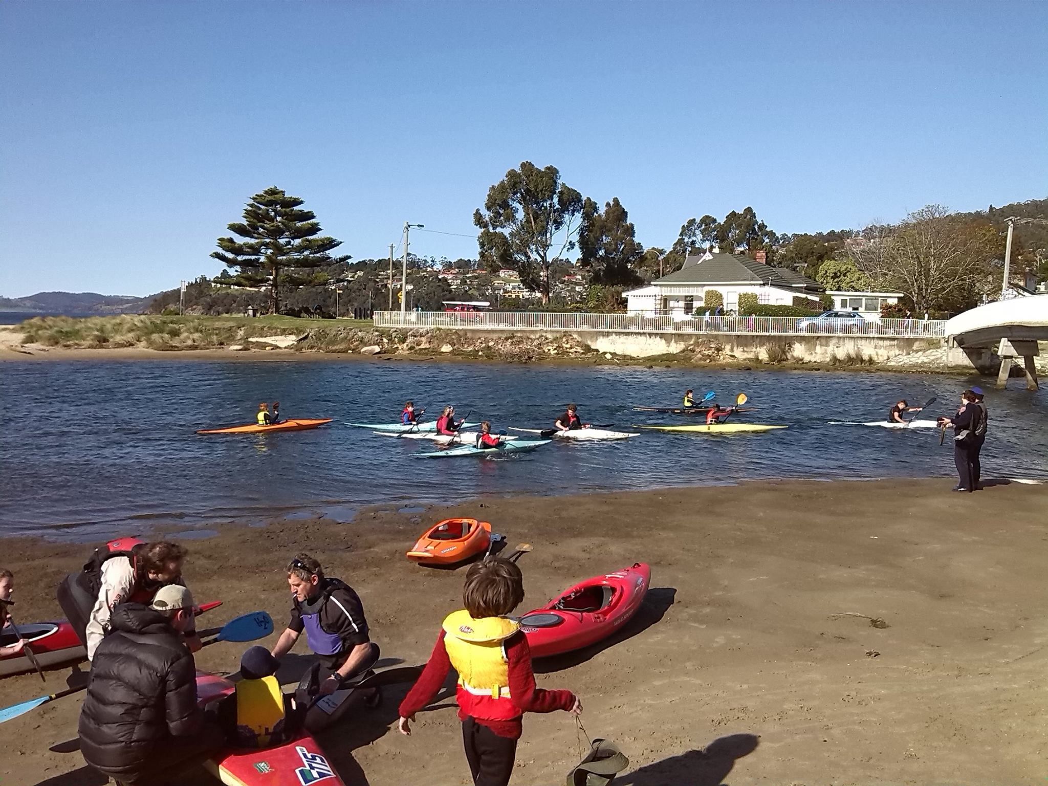 Come and try day on Browns River, Kingston Beach